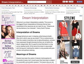 dreaminterpretation.co screenshot