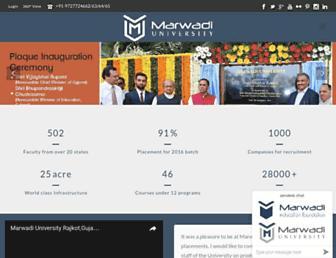 marwadiuniversity.ac.in screenshot