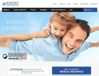 expatinsurance.com.sg screenshot