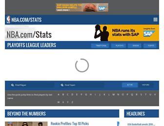 stats.nba.com screenshot