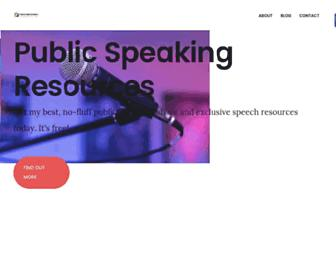 publicspeakingresources.com screenshot