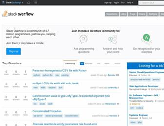 stackoverflow.com screenshot