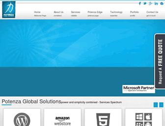 potenzaglobalsolutions.com screenshot