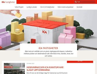 Main page screenshot of icafastigheter.se