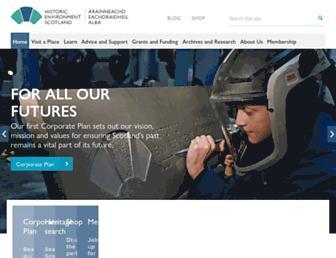 Main page screenshot of historic-scotland.gov.uk