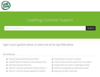 leapfrog.happyfox.com screenshot