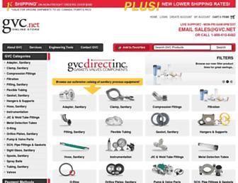 Main page screenshot of gvc.net