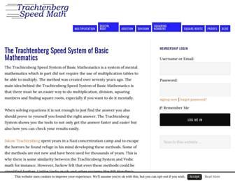 trachtenbergspeedmath.com screenshot