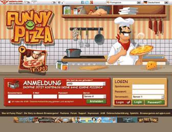 Main page screenshot of funnypizza.de