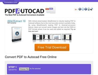 convertpdftoautocad.com screenshot