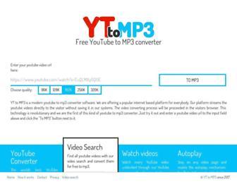 yt-to-mp3.com screenshot