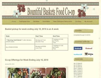 Main page screenshot of bountifulbaskets.org