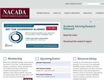 nacada.ksu.edu screenshot
