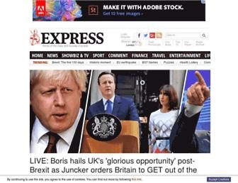express.co.uk screenshot