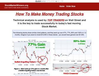 Main page screenshot of stockmarketwinners.org