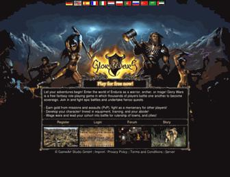 Main page screenshot of glory-wars.net