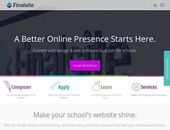finalsite.com screenshot