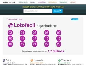 Thumbshot of Guiadaloteria.com.br