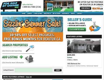 forsalebyowner.ca screenshot