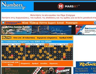 numbers.gr screenshot