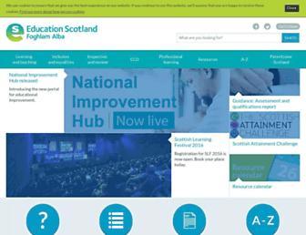 Thumbshot of Educationscotland.gov.uk