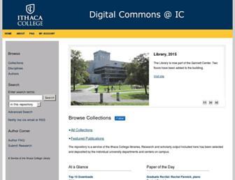 digitalcommons.ithaca.edu screenshot