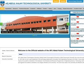 ktu.edu.in screenshot