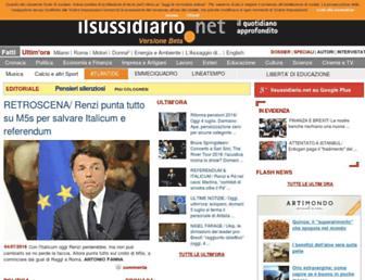 Main page screenshot of ilsussidiario.net