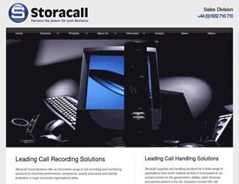 storacall.co.uk screenshot