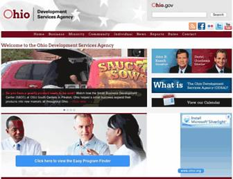Main page screenshot of development.ohio.gov