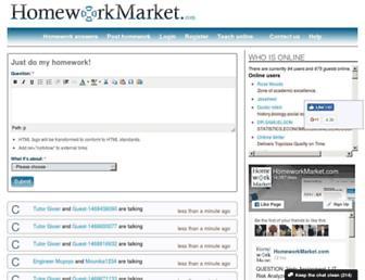 homeworkmarket.com screenshot