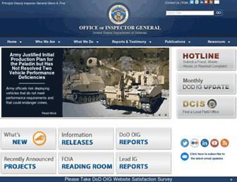 Main page screenshot of dodig.mil