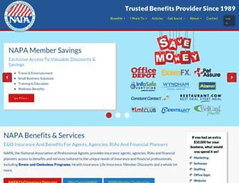 napa-benefits.org screenshot