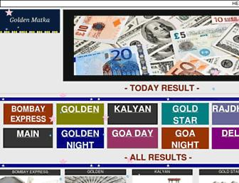 goldenmatka.com screenshot