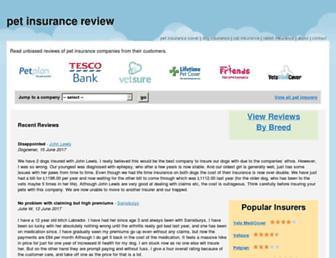 petinsurancereview.co.uk screenshot