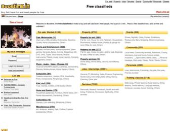 Main page screenshot of boostime.in