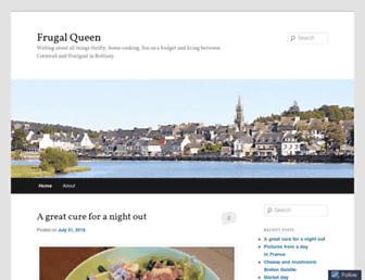 Main page screenshot of frugalqueen.co.uk