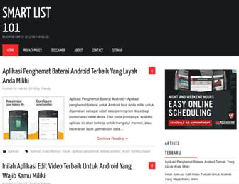 smartlist101.com screenshot