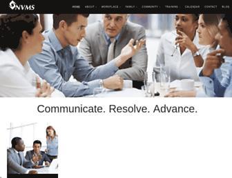 Main page screenshot of nvms.us
