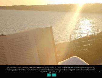 Main page screenshot of kurz-nachgedacht.de