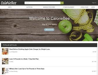 caloriebee.com screenshot