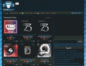 radio.livingelectro.com screenshot