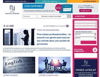 Main page screenshot of efl.fr