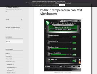 Main page screenshot of crazymen.net