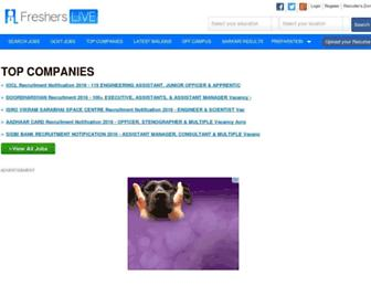 fresherslive.com screenshot