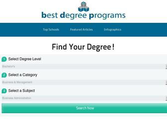 bestdegreeprograms.org screenshot