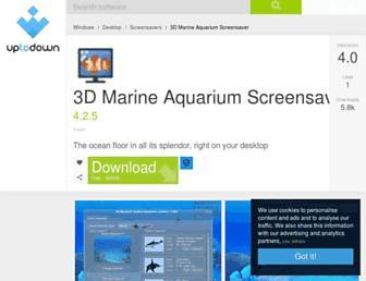 3d-marine-aquarium-screensaver.en.uptodown.com screenshot