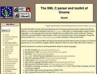 xmlsoft.org screenshot