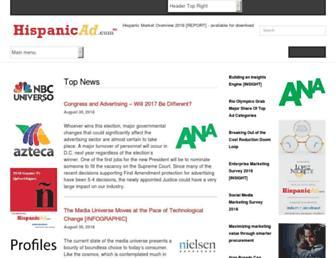 hispanicad.com screenshot