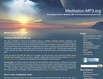 meditation-mp3.org screenshot